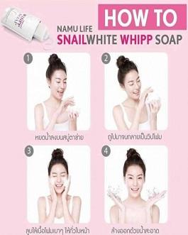 NAMULIFE SNAILWHITE WHIPP SOAP