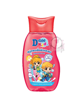 D-NEE KIDS HEAD & BODY BATH RED