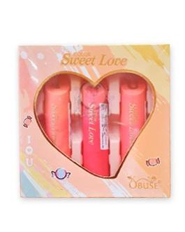 OBUSE SWEET LOVE LIPSTICK SET